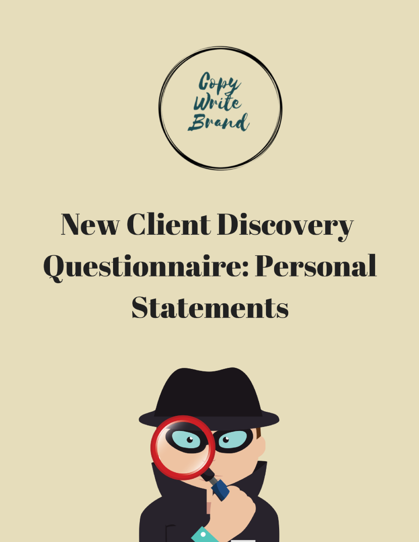 CWB Questionnaire-Personal Statement