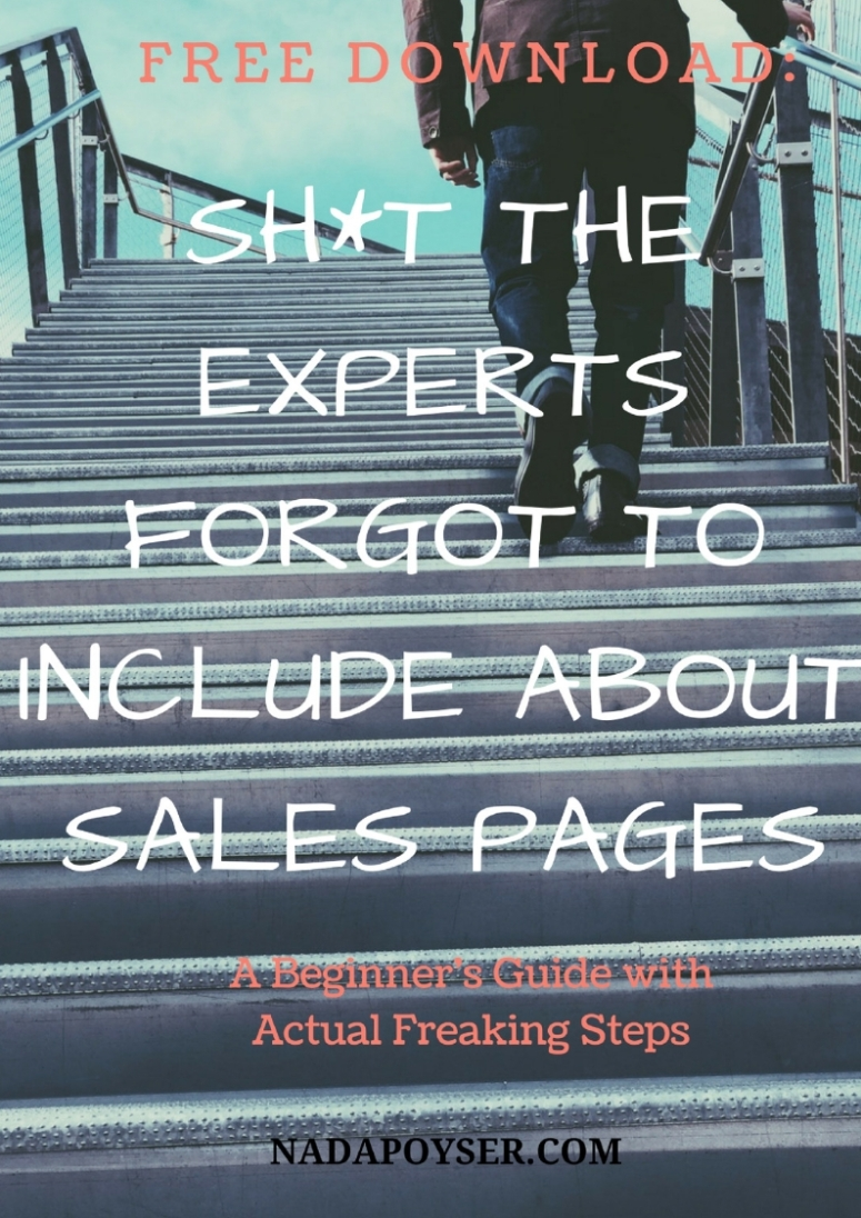 Sales page guide with steps