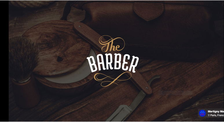 The Barber Shop template brand imagery example